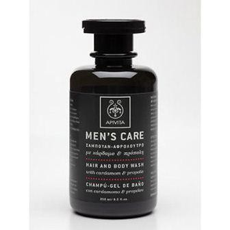 APIVITA Men's Care ср-во д/вол.-тел.кардам.-пропол.250мл