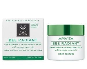 APIVITA Bee Radiant крем лег.д/сиян.и защ.от стар.со ствол.клет.апельс.